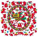 Russian-folk-painting_woman-bird Fotografia Royalty Free