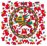 Russian-folk-painting_woman-bird Royalty Free Stock Photography
