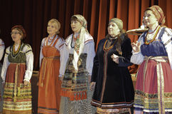 Russian folk song performers Stock Image