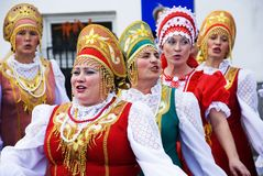 Russian folk song. Pokrovsky Folk Choir. Royalty Free Stock Images