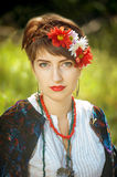 Russian folk woman Stock Photos