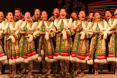 Russian folklore ensemble Royalty Free Stock Photos