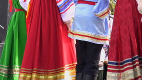 Russian folklore performers Royalty Free Stock Photography