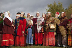 Russian folklore singers Royalty Free Stock Image