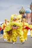 Russian followers of Falun Gong (Falun Dafa) Stock Images