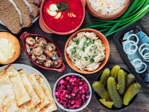 Russian food assortment Royalty Free Stock Photography