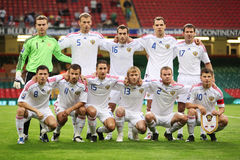 Russian Football Team royalty free stock image