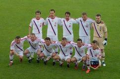 Russian football team Stock Image