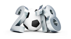 Russian football 2018. On a white background 3D illustration Royalty Free Stock Photography