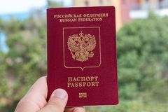 Russian foreign passport Royalty Free Stock Image