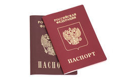 Russian Foriegn Passports Royalty Free Stock Photos