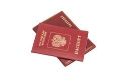 Russian Foriegn Passports. On white Stock Photo