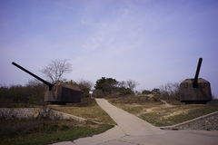 Russian Fort ruins Lushun Dalian Liaoning China Stock Image