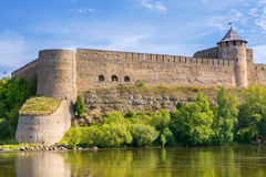 Russian fortress. Ivangorod Royalty Free Stock Photography