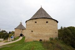 Russian fortress Old Ladoga (VIII century AD). The Volkhov region, Russia Royalty Free Stock Photo