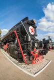 Russian freight locomotive Stock Photography