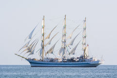 Russian fullrigger Mir sailing Stock Photo