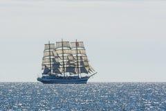 Russian fullrigger Mir under sail Royalty Free Stock Photography