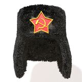 Russian Fur Hat  3d illustration. Over white background Royalty Free Stock Images