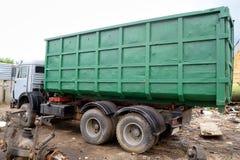 Russian garbage truck kamaz on a dump Stock Image