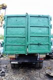 Russian garbage truck kamaz on a dump Royalty Free Stock Image
