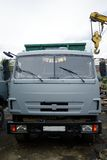 Russian garbage truck kamaz on a dump Royalty Free Stock Photo