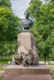 Russian geographer Nikolay Przhevalsky bustr in Aleksandrovsky Garden Royalty Free Stock Image