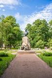 Russian geographer Nikolay Przhevalsky bustr in Aleksandrovsky Garden, Saint- Petersburg Stock Photography