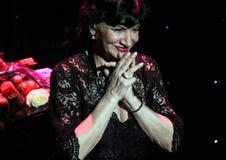 Russian-Georgian singer Nani Bregvadze, Moscow. Russian-Georgian singer Nani Bregvadze, Moscow, 2014/02/17 Stock Photos