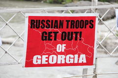 Russian get out of Georgia Stock Photo