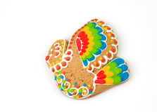 Russian gingerbread cookie with icing Stock Photography