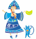 Russian girl. Ethnic Slavonic girl series isolated on white Stock Image