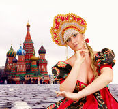 Russian girl Royalty Free Stock Photography