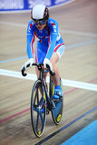 Russian girl cyclist at championships Royalty Free Stock Photography