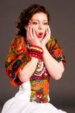 Russian girl fashion Royalty Free Stock Image