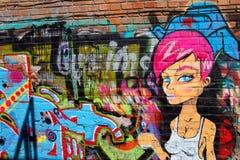 Russian girl graffiti Royalty Free Stock Photo