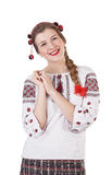 Russian girl laughing Stock Photos