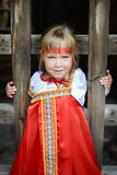 Russian girl in national costume Royalty Free Stock Photo