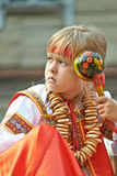 Russian girl in national costume Royalty Free Stock Image