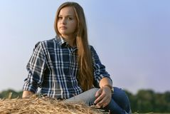 Russian girl Royalty Free Stock Image