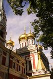 Russian golden domes Royalty Free Stock Images