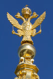 Russian golden double headed eagle Stock Photos