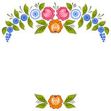 Russian Gorodets ornament Stock Image