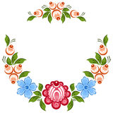 Russian Gorodets ornament. Vector floral ornament in the Russian traditional style. Gorodets painting Royalty Free Stock Photography