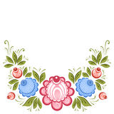 Russian Gorodets ornament. Vector floral ornament in the Russian traditional style. Gorodets painting Stock Photos
