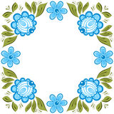Russian Gorodets ornament. Vector floral ornament in the Russian traditional style. Gorodets painting Stock Image