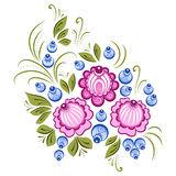 Russian Gorodets ornament. Vector floral ornament in the Russian traditional style. Gorodets painting Stock Photography