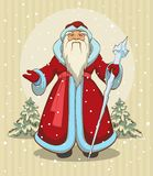 Russian Grandfather Frost. Santa Claus. Illustration in vector format Royalty Free Stock Image
