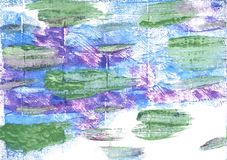 Russian green abstract watercolor background Stock Photography