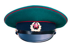 The Russian green border guard cap. On a white background Royalty Free Stock Image